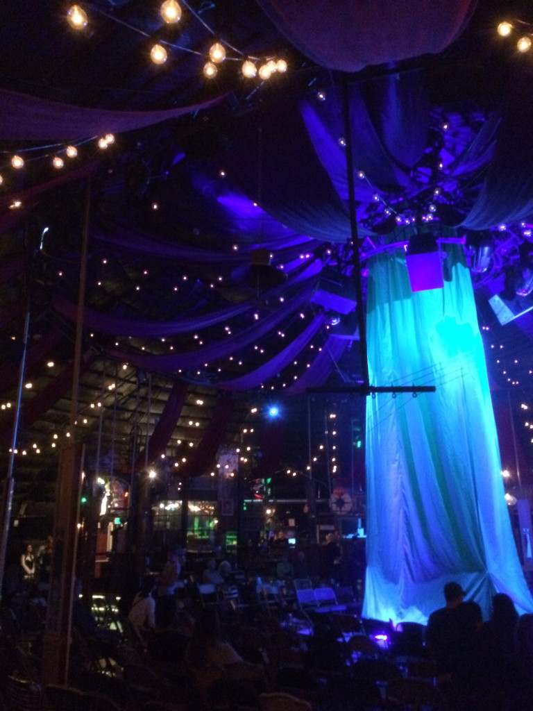 The 8-foot stage inside the Absinthe theater makes it very intimate and very cool.