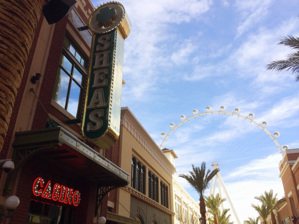 O'Sheas during the day with the High Roller in the background
