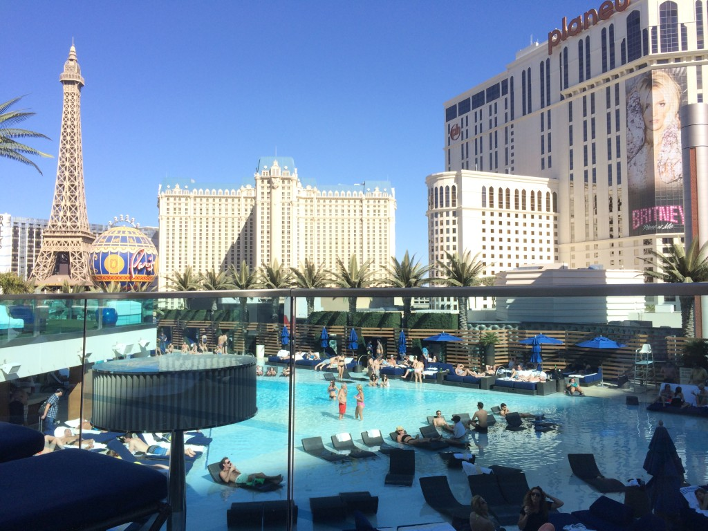 The Boulevard Pool at the Cosmopolitan was open in February. Some pools in town still not open. Glad we chose Cosmo...