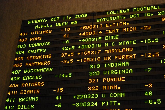 Sports gambling money line