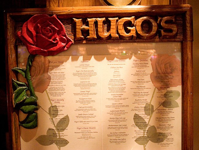 Menu, Hugo's Cellar, Restaurant, Las Vegas, Nevada